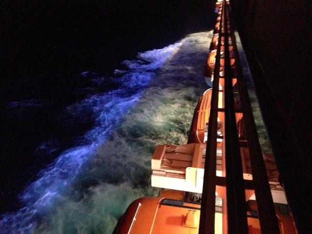cruising across the Atlantic