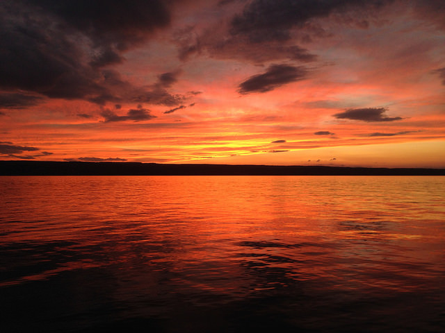 Finger Lakes sunset