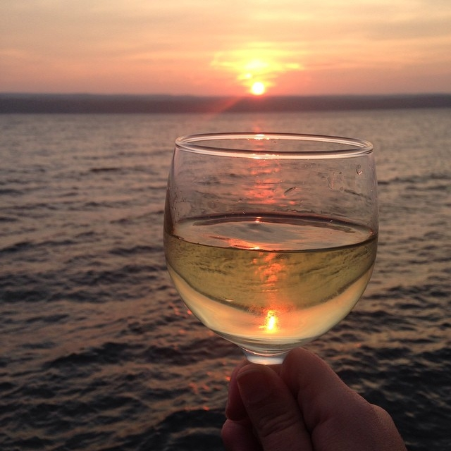 finger lakes wine sunset