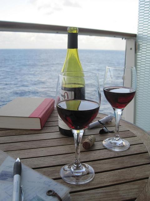 cruise balcony wine