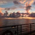 cruise, sunset