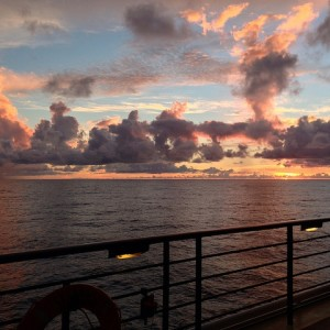 cruise, sunset