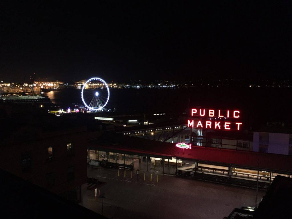 view of Pike Place Market from Inn at the Market