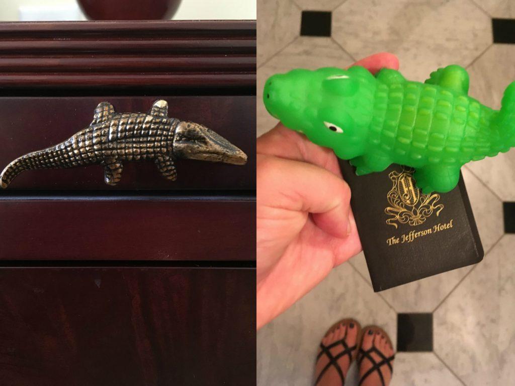 Jefferson Hotel gators