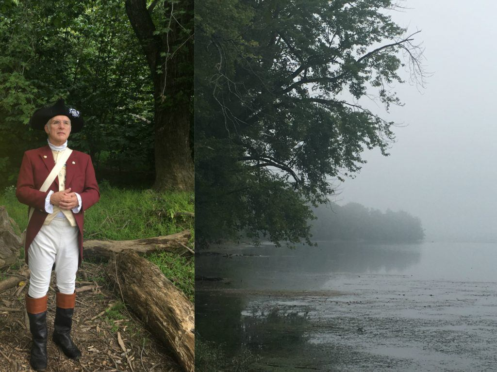 foggy potomac river hike